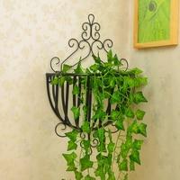 European iron balcony wall hanging frame assembly flowerpot rack wall mural creative flower stand