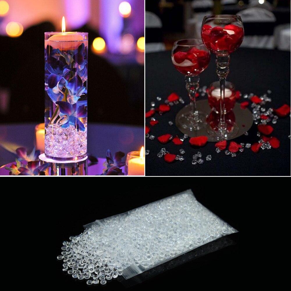 4,2mm 1/3 quilates confeti de diamante cristalino 10000 unids/bolsa adornos de dispersión para mesa de boda decoración nupcial ducha decoración de la boda