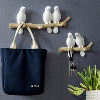 Настенное украшение с птицами, домашняя Вешалка из каучука для ключей, одежды, полотенец, шляп, сумок, в гостиную, Кухонное пальто
