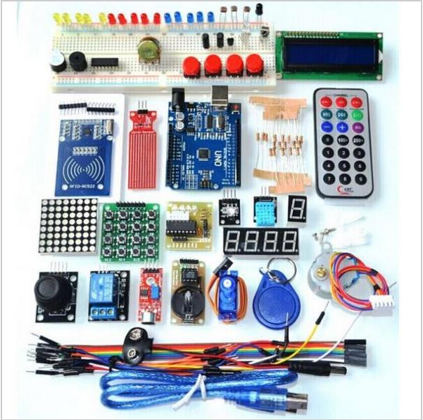 Kit de iniciación versión avanzada actualizado el Kit de Suite de aprendizaje RFID LCD 1602 para Arduino UNO R3