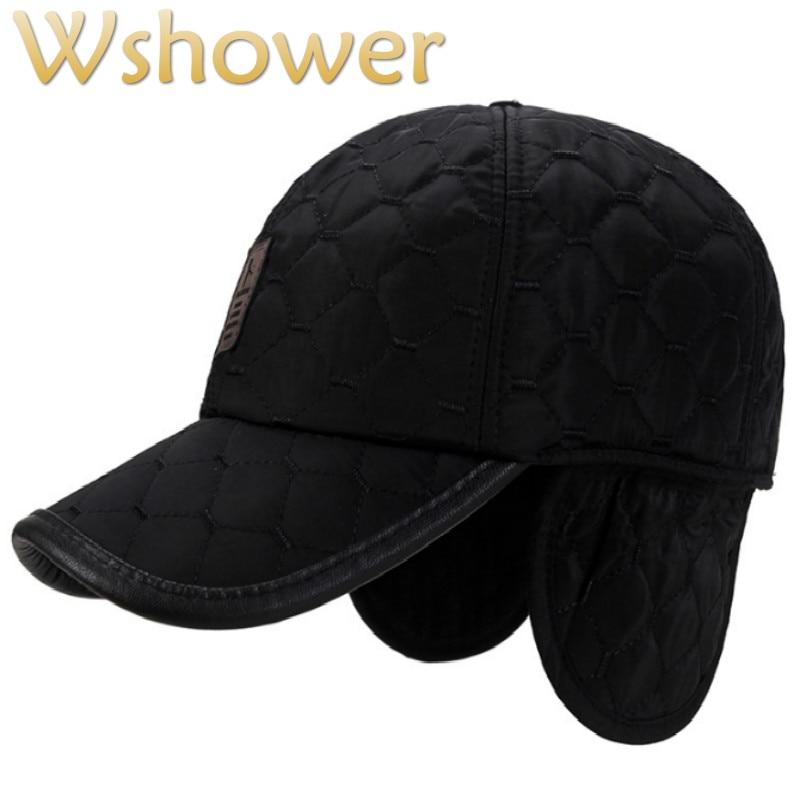 Gorra de béisbol a cuadros para hombre de invierno con orejeras de marca sólida gorra para el invierno ajustable Vintage cálido gorra de camionero hueso