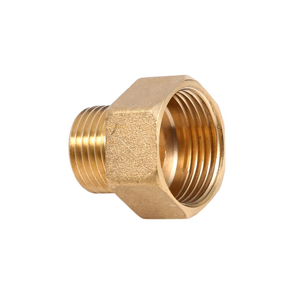 1 unidad de adaptador reductor de buje hexagonal de tubo de agua interno y externo de latón 1/2BSPT macho 3/4BSPT rosca hembra de latón Pipefitting