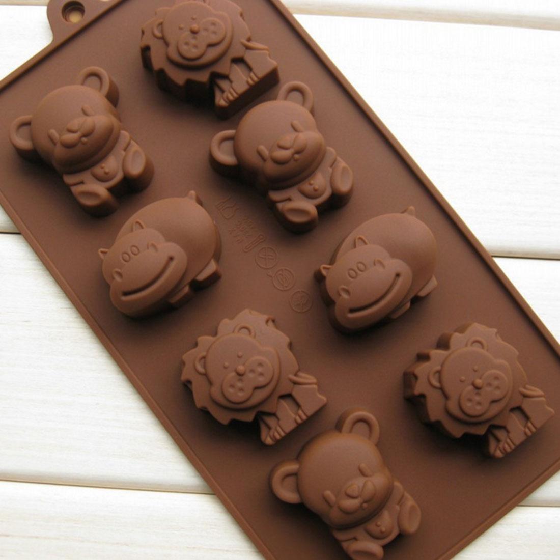 Горячие 1 шт Бегемот, Лев Форма медведя силиконовая форма желе Шоколадное Мыло для украшения торта DIY кухонные принадлежности для выпечки