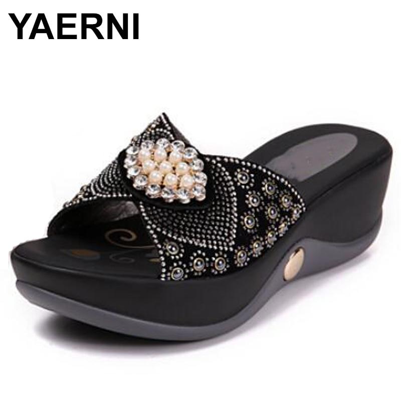 YAERNI-صندل نسائي مريح من حجر الراين ، أحذية صيفية ، نعل ناعم ، عصري ، E601 ، 2021