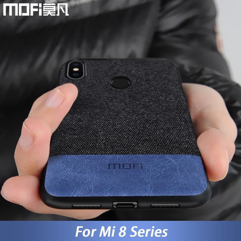 For Xiaomi Mi8 Case Cover Mi 8 Explorer Version Back Cover Silicone Fabric Shockproof Case Coque Cap