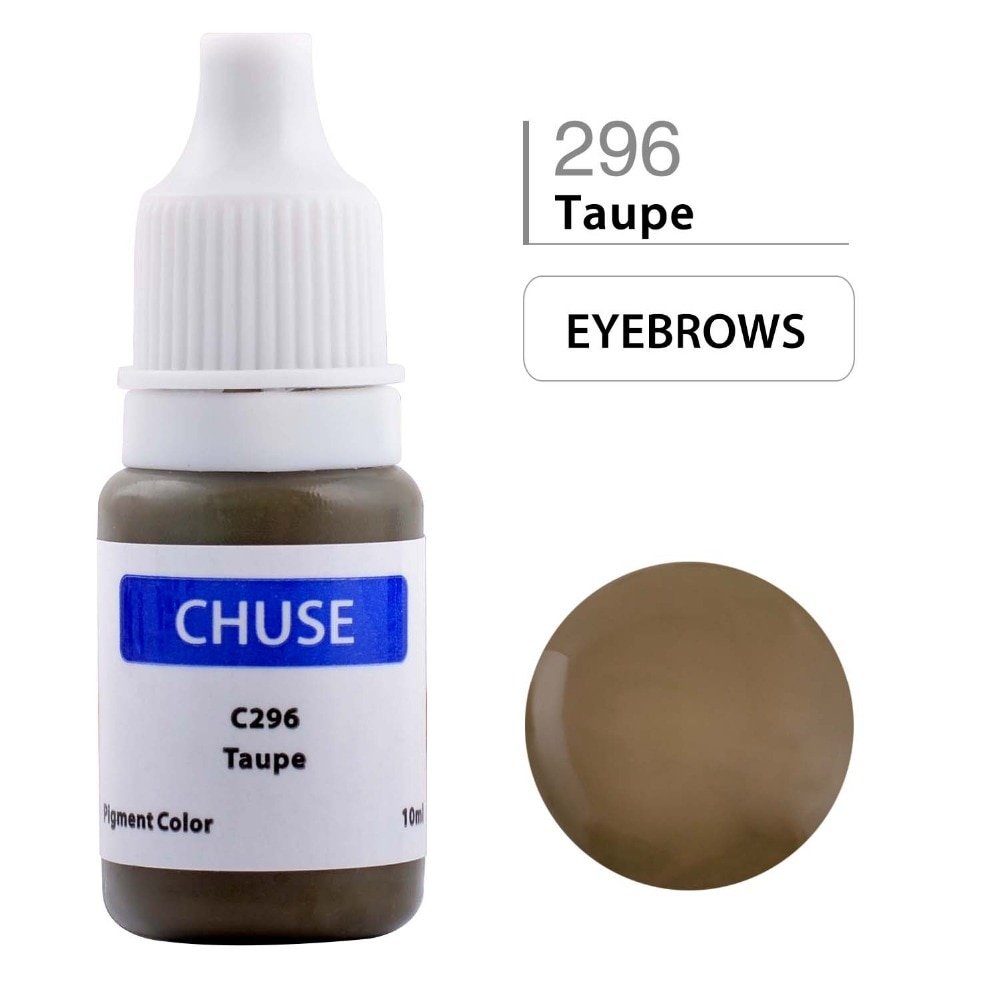 CHUSE, tinta permanente para maquillaje, delineador de ojos, conjunto de tinta para tatuaje, pigmento Microblading para cejas, profesional, Micro Encre A Levre, 10 ML, color topo C296