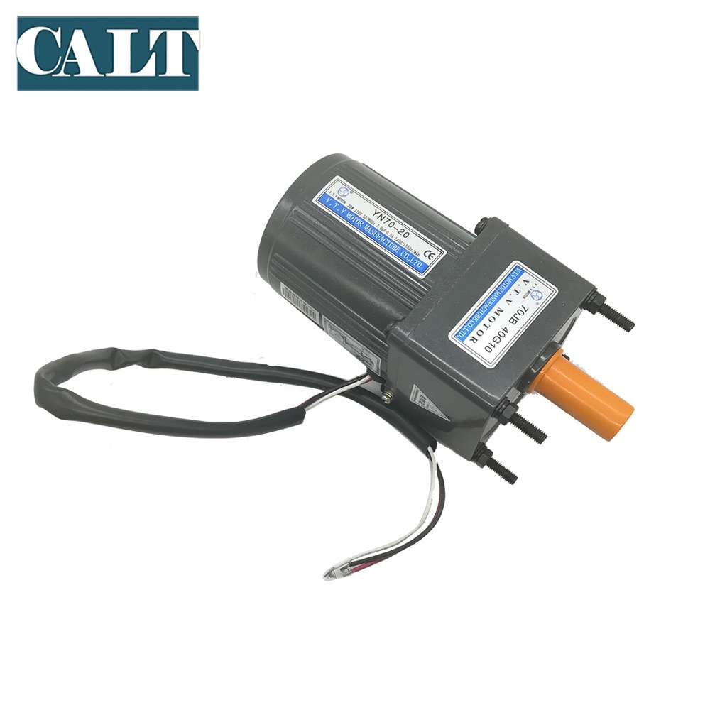 Low ouput speed 110V Ac Gear motor 70mm 20W with 1:3 to 1:180 reduction ratio gear head enlarge