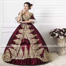Bourgogne 18ème Siècle Marie-Antoinette Inspiré Robe Halloween Robe Costumes Reconstitution