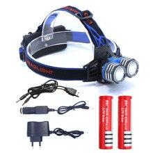 6000LM 2 * XML-T6 LED 18650 AA AAA phare phare phare lumière et voiture AC chargeur et USB câble de charge et 2 * batterie