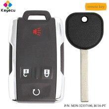 KEYECU 4 Tasten Fernbedienung Auto Schlüssel & Transponder Schlüssel-FOB für GMC Sierra Canyon 2014 2015 2016 2017 2018 2019 M3N-32337100