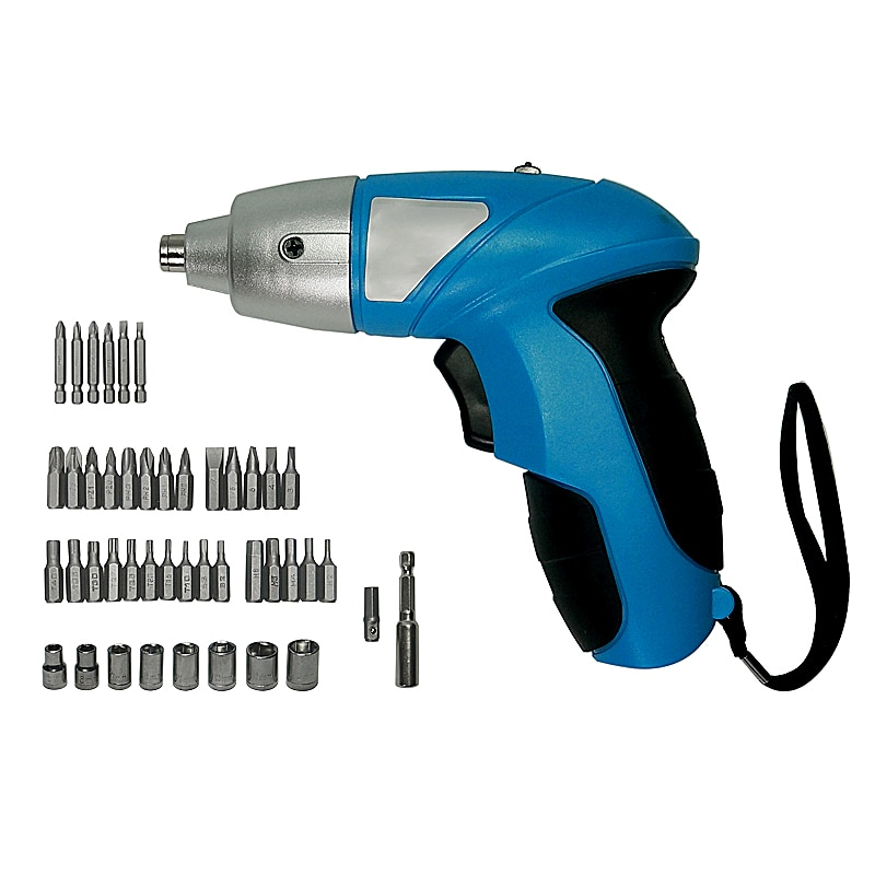 3.6V DC 180rpm Rechargeable Electric Screwdriver 46pcs/set with LED Light for Household maintenance enlarge