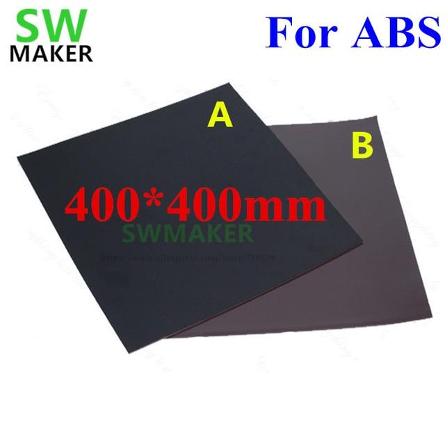 400x400 milímetros Novo Para ABS Magnética Cama Impressão Fita de Impressão quadrado Adesivo Construir Placa Fita Flex Placa UM + B com 3 M 3D peças Da Impressora