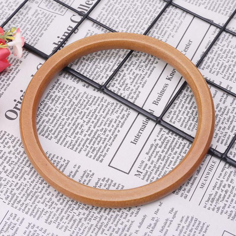 1 pieza de mango redondo de madera único de moda reemplazo de manijas para DIY bolsos de mano bolso manija compras Tote