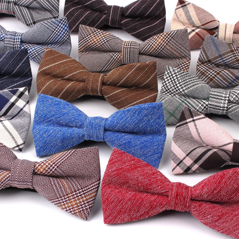 Новый Классический Клетчатый регулируемый галстук-бабочка, смокинг, мужской галстук-бабочка, хлопчатобумажный галстук-бабочка для мужчин, ...