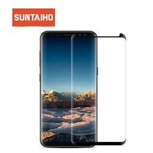 Suntaiho Für Samsung S9 Screen Protector S10 A50 A30 Glas Für Samsung Galaxy S8 S9 Plus Note9 S7 rand hinweis 8 9H Schutz Film