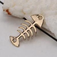 doreenbeads zinc based alloy connectors fish bone gold silver color jewelry accessories 21mm 78 x 11mm 38 20 pcs