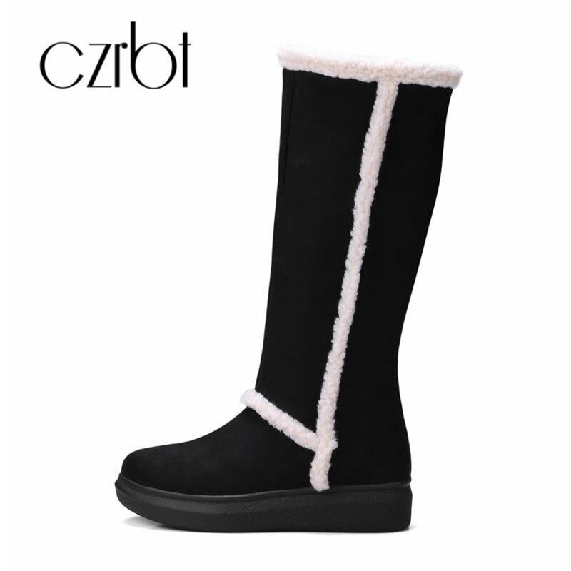 ¡Novedad de invierno 2018! botas de nieve CZRBT para mujer, cómodas y cálidas, de ocio, antideslizantes, talla 34 a 43