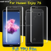 Front / Back Full Coverage Clear Soft TPU Film Screen Protector For Huawei Enjoy 7S Cover Curved Par