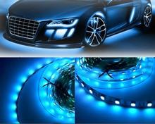 MARSWAL LED 5M Cyan bleu glace 5050SMD LED bande lumière Non-étanche 470nm-490nm longueur donde pour voiture salle cuisine bureau saisonnier