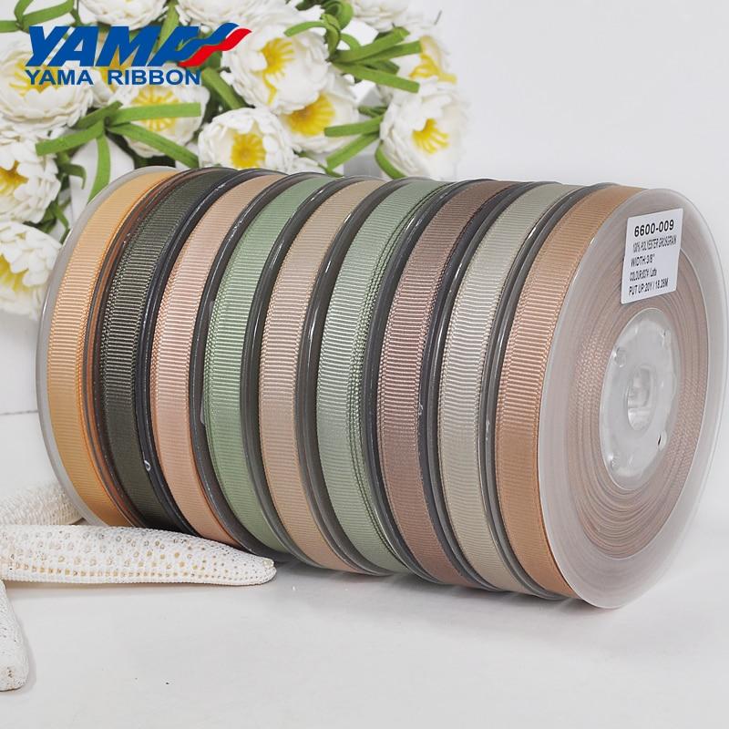YAMA Wholesale Grosgrain Ribbon 6 9 13 16 19 22 mm 100 yards/lot Dark Brown for Diy Dress Accessory House Wedding Decoration