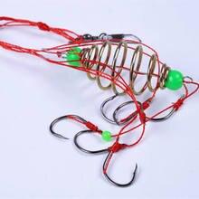 Paquet de 2 6in1 bombe Explosion crochet de pêche crochets barbelés Durable explosif hameçon 7 taille aiguisée attirail eau salée eau douce