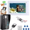 MOUNTAINONE 7 TFT Wired/Wireless Wifi סיסמא RFID מערכת אינטרקום פעמון דלת וידאו עם שביתת מנעול חשמלי
