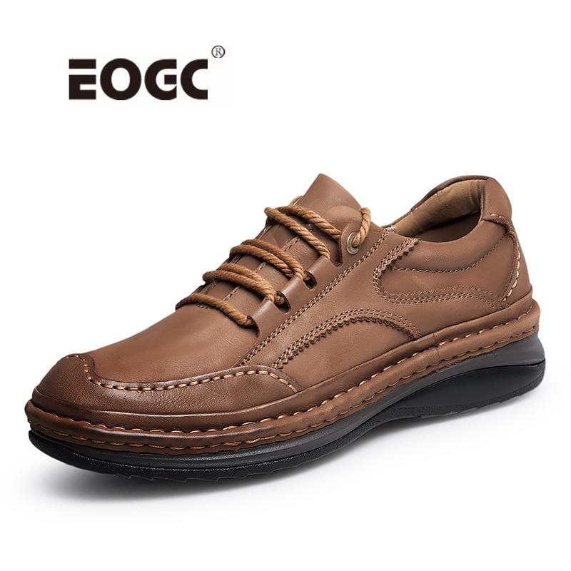 أعلى جودة جلد طبيعي الرجال الأحذية الرجعية نمط مقاوم للماء حذاء رجالي منصة مقاومة للاهتراء المطاط الكاحل أحذية عمل الأحذية