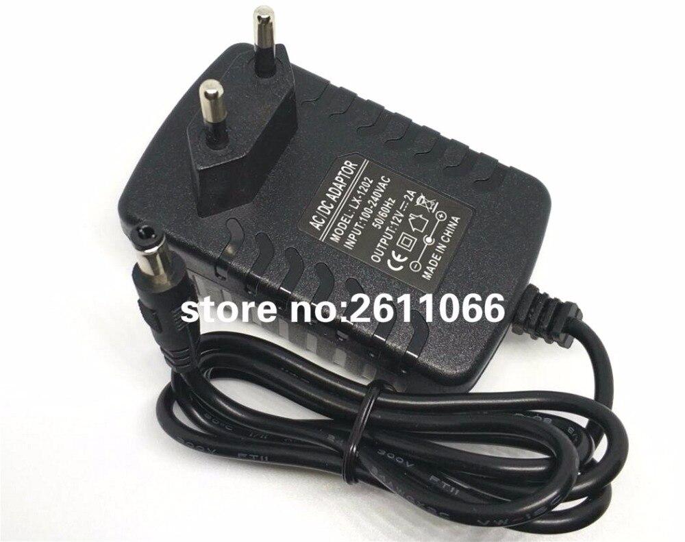 LX1202 12V2A AC 100 V-240 V Adaptador convertidor 5,5*2,1 DC 12V 2A 2000mA de alimentación de la UE macho de 5,5mm x 2,1-2,5mm para tira LED CCTV