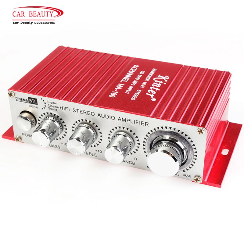 DC 12V HI-FI Digital USB Stereo Audio Power Amplifier Mini Stereo Sound Mode Auto Speaker for Car Motorcycle Boat MA-180