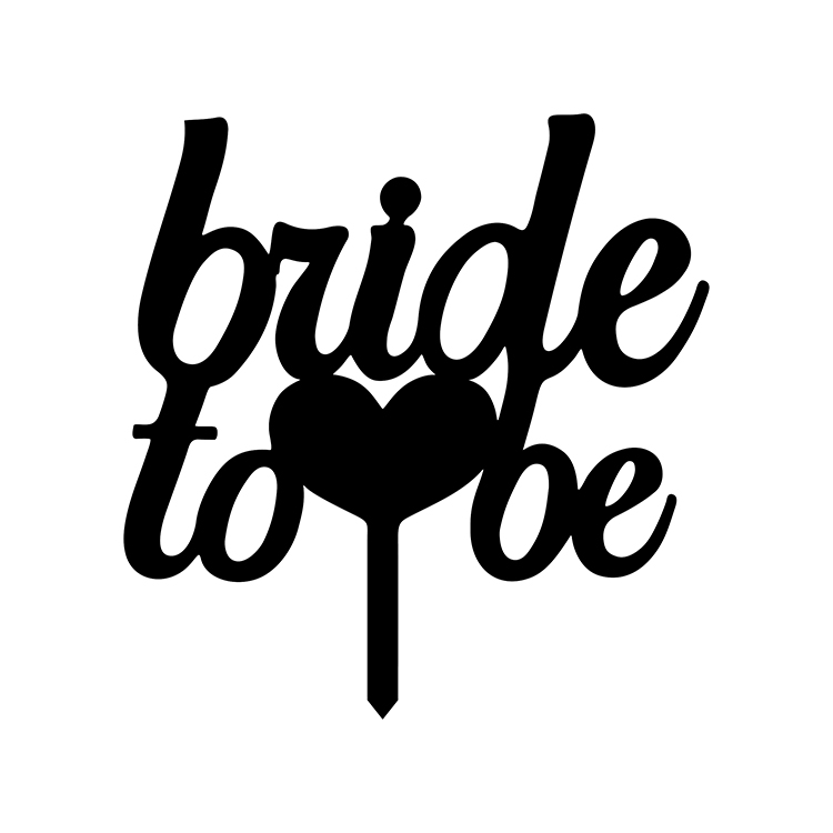 Banderas para pastel de novia para ser amor corazón boda negro blanco oro plata adorno acrílico para pastel suministros para bodas suministros para fiestas de aniversario
