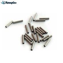 Rompin 100 pçs/lote de Pesca linha de pesca de aço inoxidável manga tubo de cobre tubo de acessórios de pesca linha de pesca de 1.0mm ~ 2.8mm