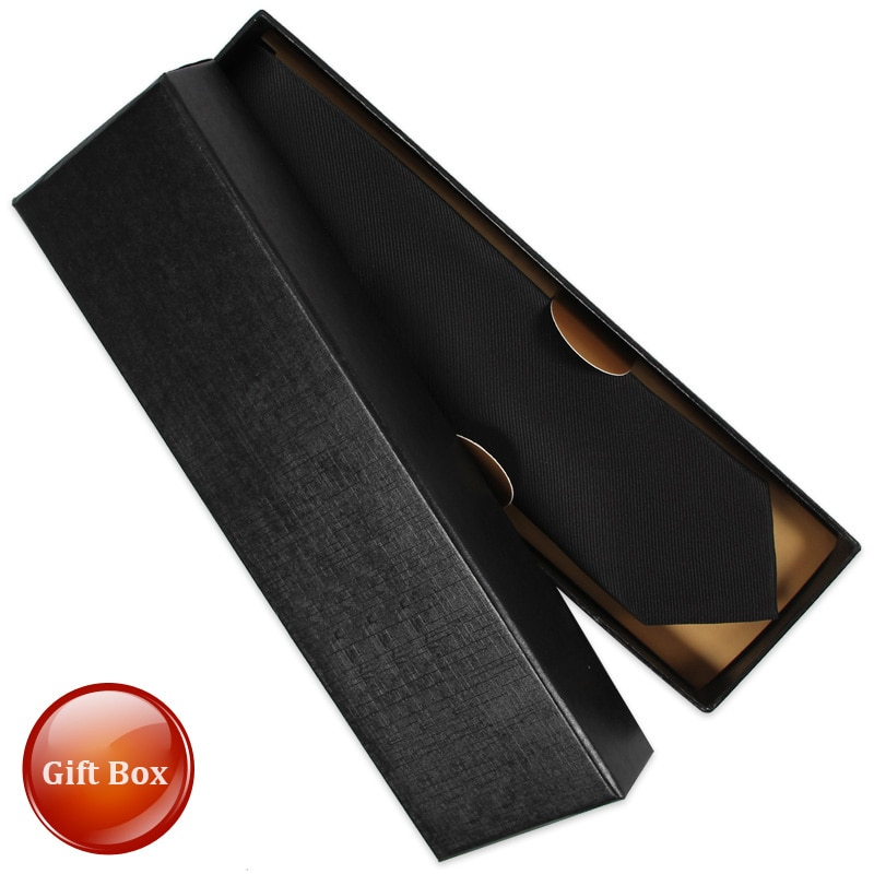 Classic Casual 5cm Slim Ties for Men Skinny Top Quality Microfiber Necktie Business Suit Mens Ties gravata Pack with Gift BOX