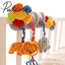 Helen115 belle nouveau-né bébé dessin animé animaux berceau suspendu poussette lit spirale jouet cloche Musical hochet