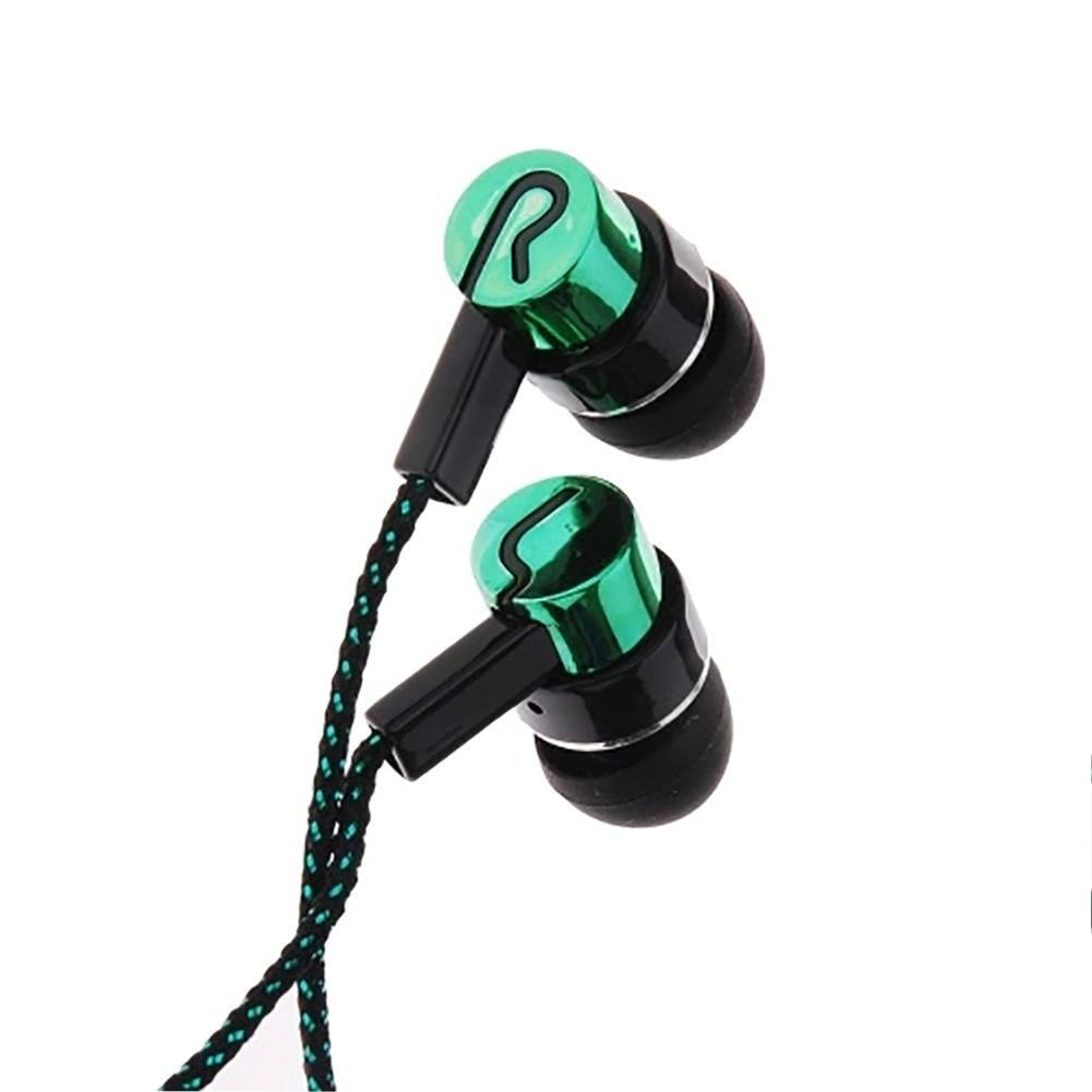Gran oferta auriculares de Bajo estéreo de reducción de ruido con cable trenzado de 3,5mm para MP3 MP4