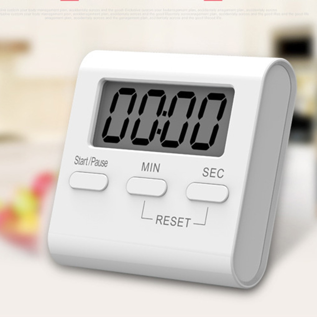 LCD Digital Timer Multifunctional Kitchen Timer Alarm Clock Home Cooking Tools Kitchen Count Down Up Clock Magnetic Hour Meter