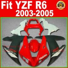 Kit de carpette de moto gratuit   Pour YAMAHA R6 2003 2004 2005 YZF R6 03 04 05 rouge noir