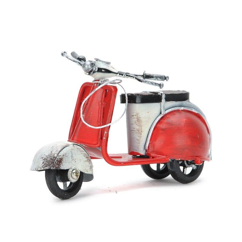 Moto Vintage électrique   Cadeau de noël, décoration moto à moteur, vélo rétro en métal, petit mouton, faire soi-même des ornements vieux