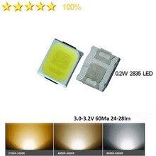1000 stks/partij CRI> 80 0.2 w SMD 2835 LED Lamp Kraal 24-28lm Wit SMD LED Kralen LED Chip DC3.0-3.2V voor Alle soorten LED Licht