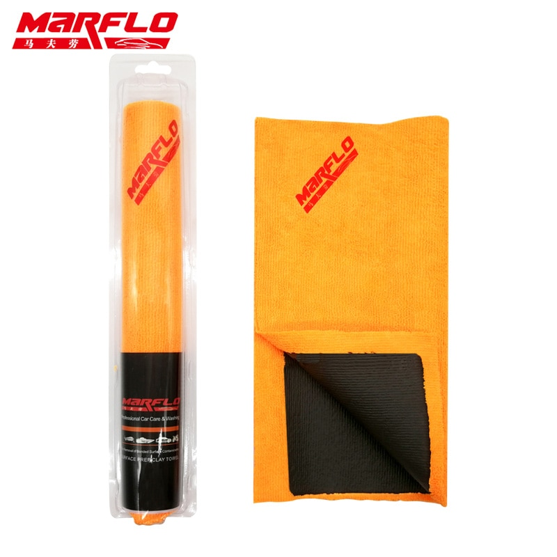 MARFLO Автомойка Волшебная глина полотенце барная ткань микрофибра оранжевый Edgeless авто Уход деталь бар чистая краска от Brilliatech