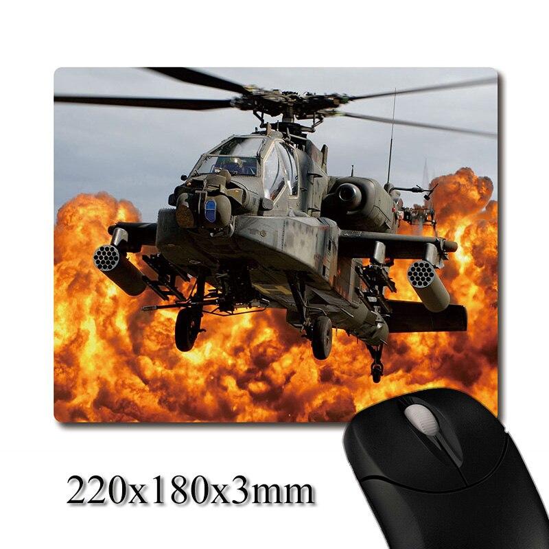 Apache helicóptero gunships of the war imagen impresa Tejido pesado almohadilla de goma antideslizante Oficina mouse pad posavasos fiesta favor regalo