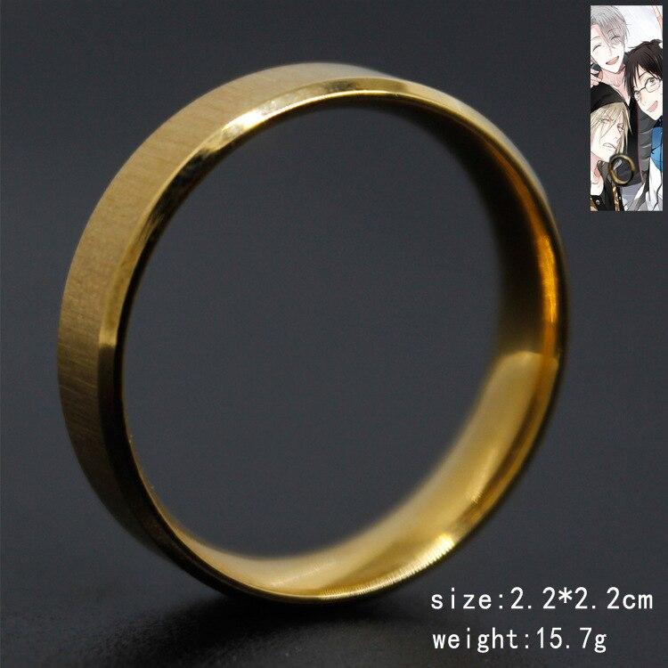 Anillo de joyería, anillo de Metal de alta calidad de Anime YURI ON ICE Victor Nikiforov Katsuki Yuri, regalo para hombres y mujeres