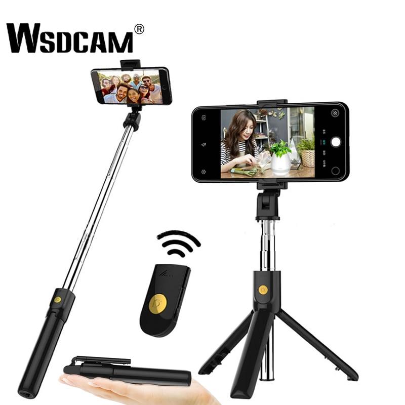 Wsdcam 3 en 1 inalámbrico Bluetooth selfie stick de mano Monopod obturador plegable minitrípode para iPhone XR 8X6 s 6 más 7 6s más