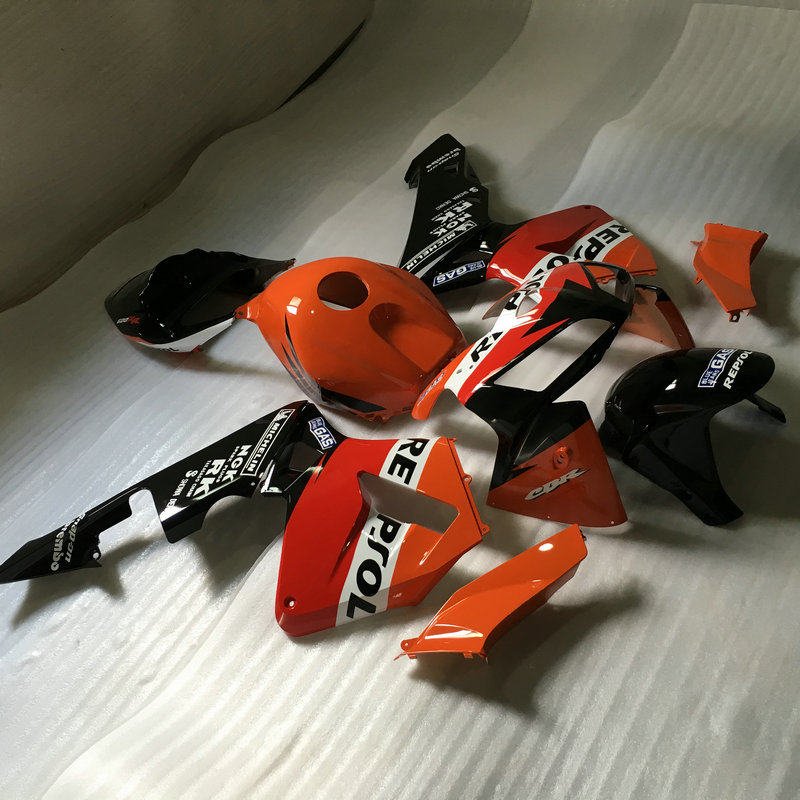 Motorcycle Fairing kit for HONDA CBR600RR F5 05 06 CBR 600RR CBR 600 RR 2005 2006 ABS Red orange black Fairings set+gifts HD35