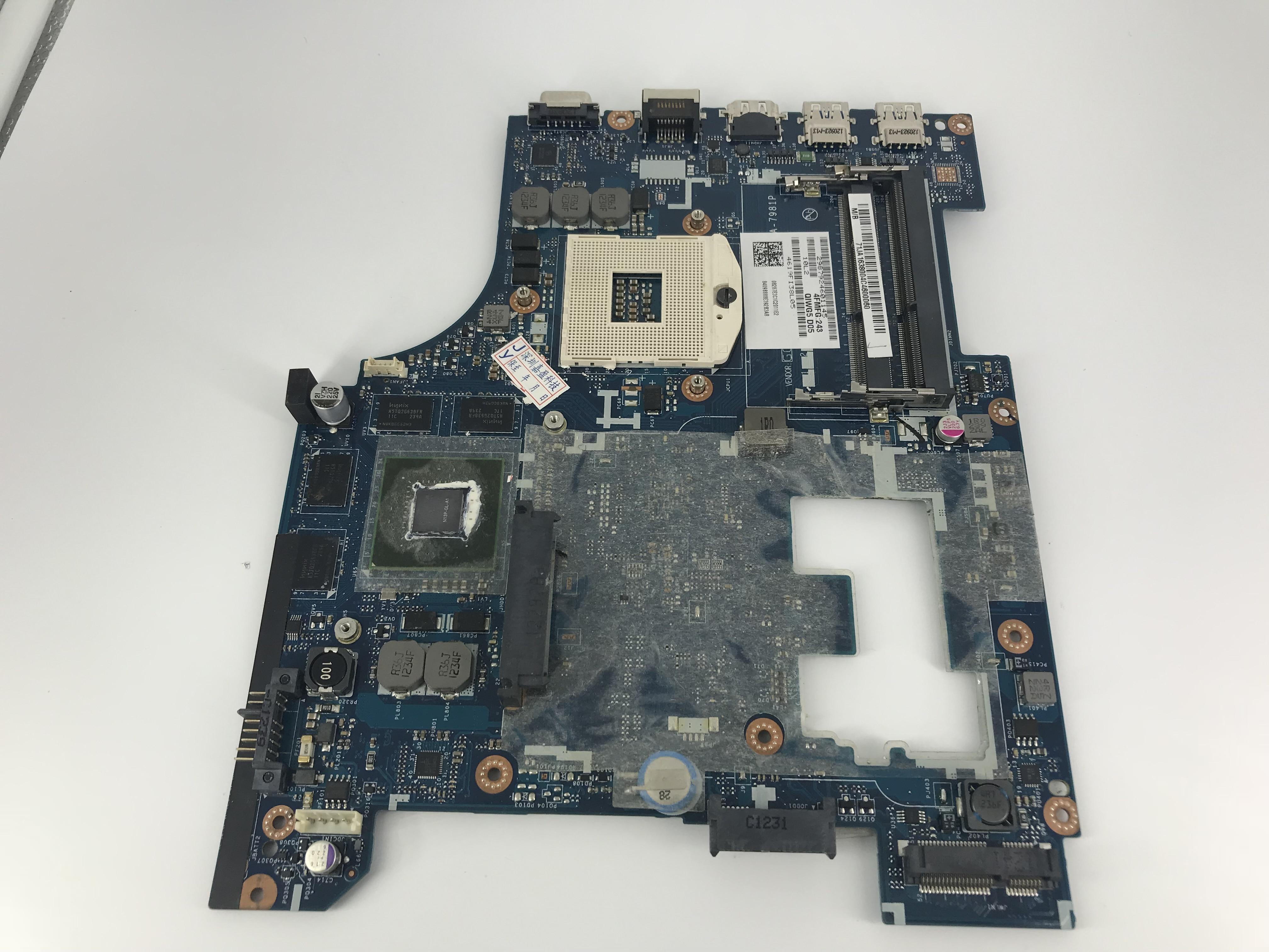 De alta calidad de la placa base 11S900007 para Lenovo G580 placa base de computadora portátil QIWG5_G6_G9 LA-7981P PGA989 SLJ8E HM76 DDR3 100% probado