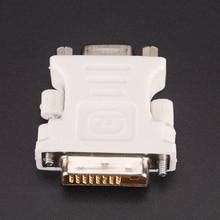 새로운 24 + 1 핀 DVI-D-D-M VGA-F 어댑터 비디오 컴퓨터 모니터 어댑터-25 핀 (듀얼 링크) DVI-D 남성 15 핀 VGA 여성