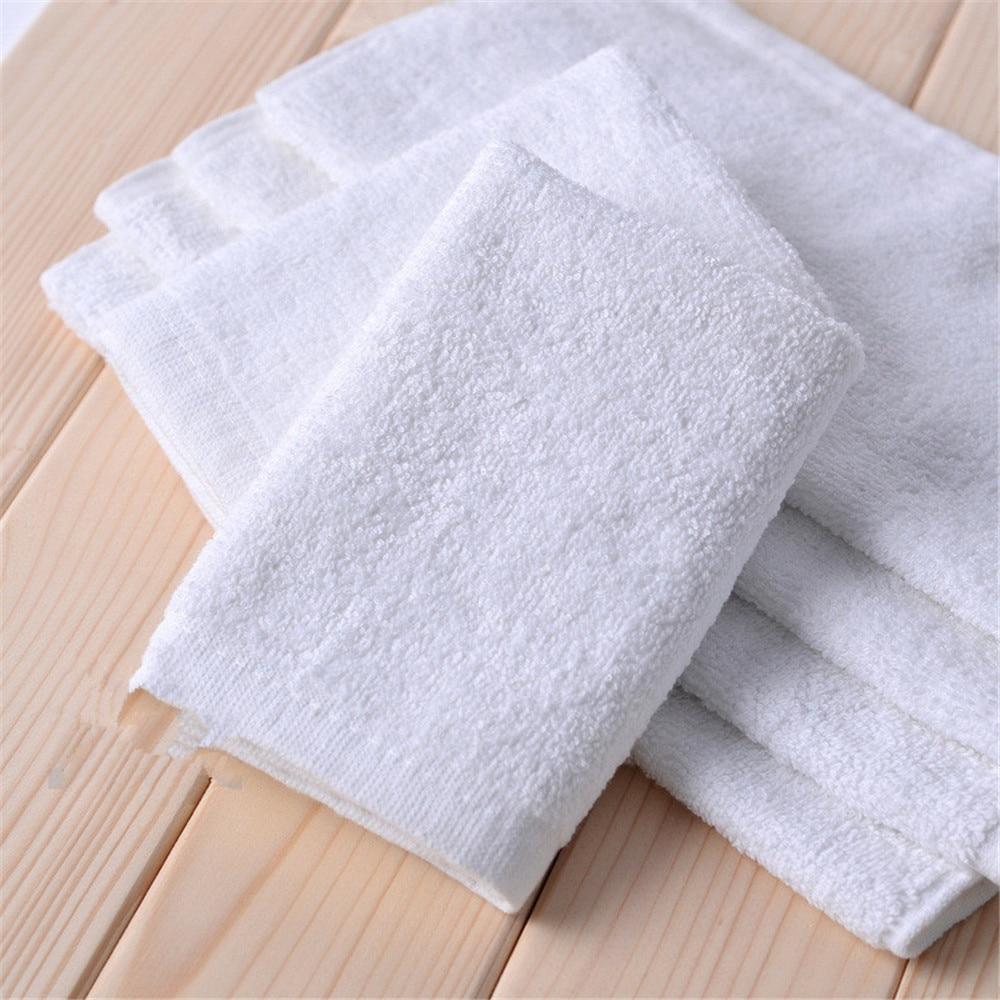 10 шт./лот 25*25 см маленькое полотенце для лица 30 г полотенце для рук отель белый хлопок дышащая мочалка отель квадратное полотенце Мочалки