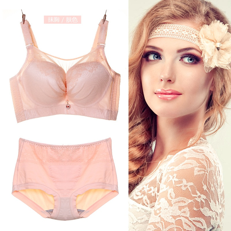 Super size anti-glare tube top bra 50CDE no steel ring thin section big breasts fat MM comfortable gathering shaping underwear enlarge
