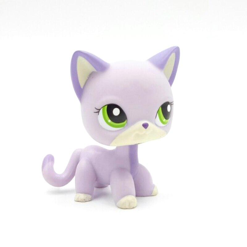 Редкие животные магазин милые игрушки Кот #2094 мини короткие волосы стоя сине-фиолетовый котенок зеленые глаза старая коллекция животных ор...