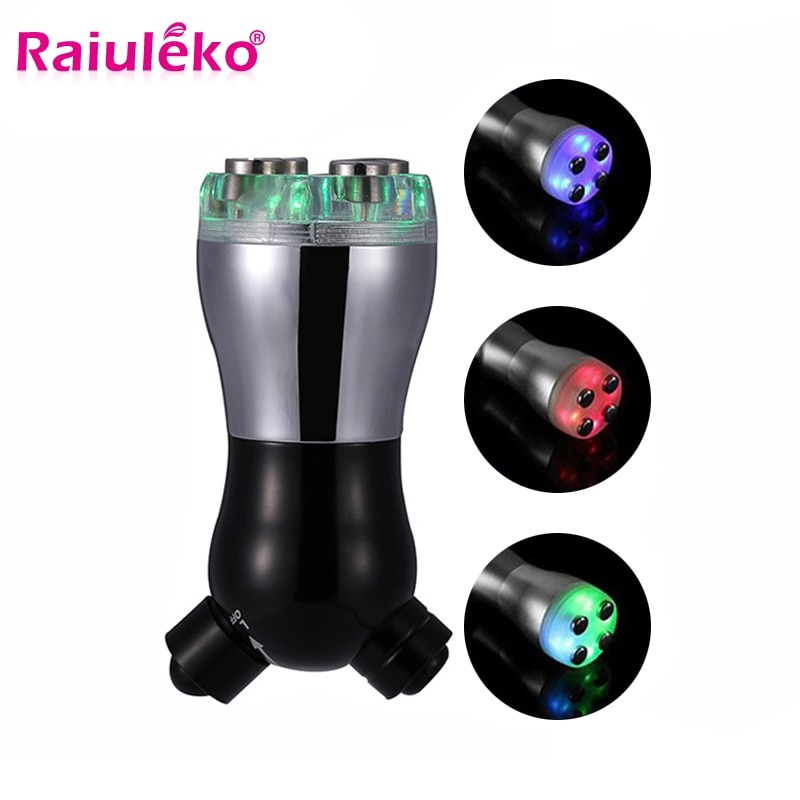 Facial RF Radio Frequency No Needle Mesotherapy Mesoporation Skin Rejuvenation LED Photon Light Face Lift Massager Beauty Care