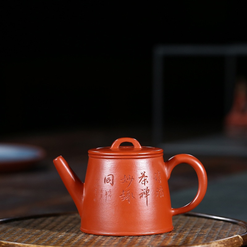 Yixing maceta de arcilla púrpura genuino famosos artesanos hechos a mano mineral crudo Zhuni Cubo de oro Kungfu tetera juego de regalos